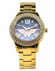 "Wonder Woman ""Justice"" Gold-tone Watch"