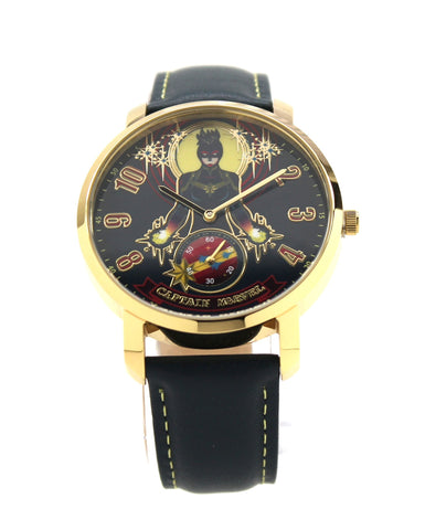 Captain Marvel Carol Danvers Genuine Leather Men's or Women's Infinity War Movie Avengers Watch (CPM5003)