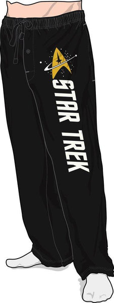 Star Trek Emblem Black Quick turn Lounge Sleep Pants - SuperheroWatches.com