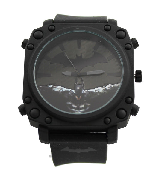 Batman Arkham City Sprayed Black Men's Watch (ARK9047) - SuperheroWatches.com