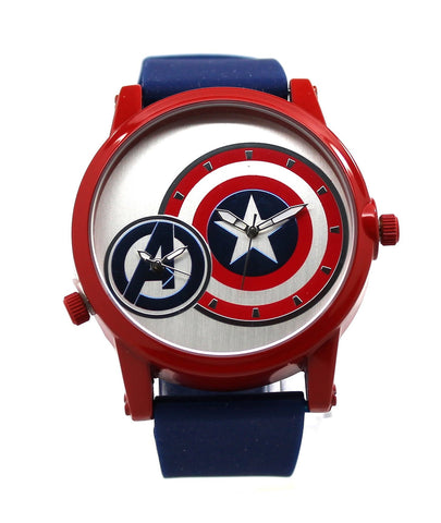 Captain America Avengers Dual Time Shield Mens Watch (AVG1520) - SuperheroWatches.com