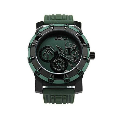 Boba Fett Mandalorian Stainless Steel Limited Edition Star Wars Watch (BOB1212) - SuperheroWatches.com