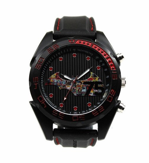 75 Years of Batman Mens Watch - Comic Book History Inspired Logo (BAT7002) - SuperheroWatches.com