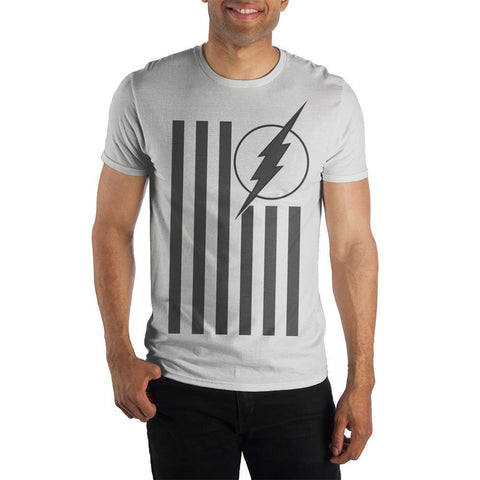 The Flash Logo Flag White T-shirt For Men - SuperheroWatches.com