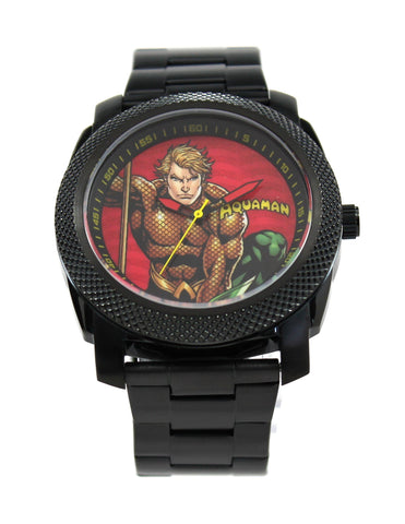 Aquaman Stainless Steel Black Mens Watch (AQU8002) - SuperheroWatches.com