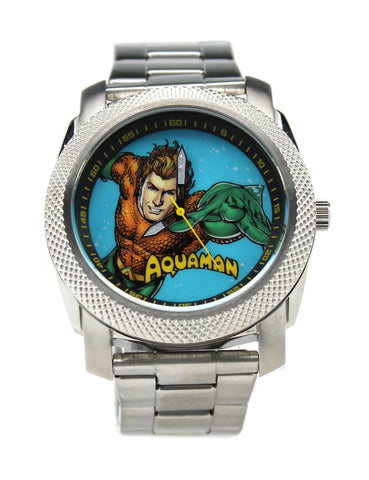 Aquaman Stainless Steel Silver Mens Watch (AQU8003) - SuperheroWatches.com