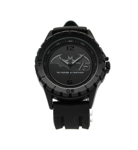 75 Years of Batman Black Stealth Mens Watch (BAT7001) - SuperheroWatches.com