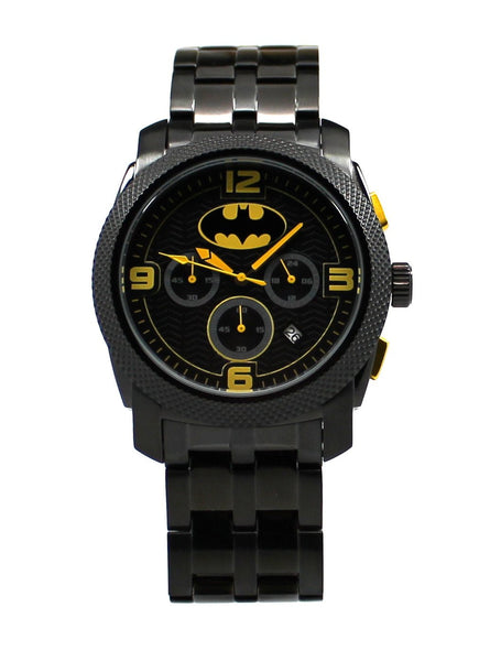 75 Years of Batman Black Chronograph Watch (BAT8049) - SuperheroWatches.com