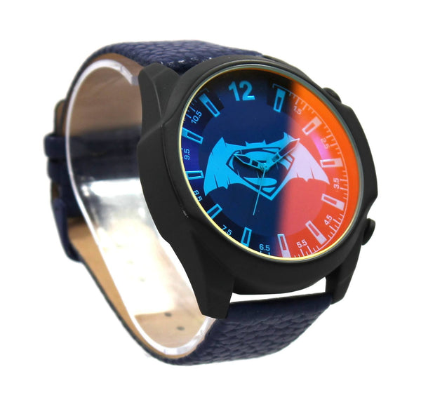"Batman V Superman ""Tactical"" Iridescent Crystal Exclusive Mens Watch (BVS95001) - SuperheroWatches.com"