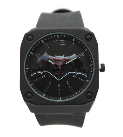 "Batman V Superman ""Stealth Mode"" Exslusive Mens Watch (BVS9065) - SuperheroWatches.com"