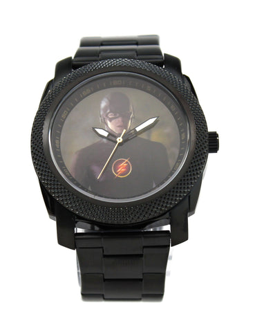 The Flash Grant Gustin Black Stainless Steel Watch (FLT8003) - SuperheroWatches.com