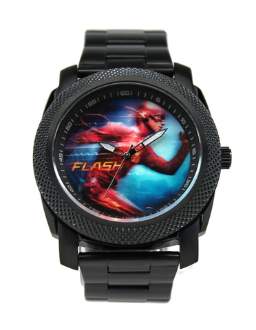 The Flash Grant Gustin Stainless Steel Black Watch (FLT8004) - SuperheroWatches.com