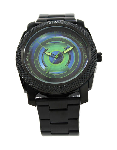 Green Lantern Mens Stainless Steel Black Watch (GLN8005) - SuperheroWatches.com