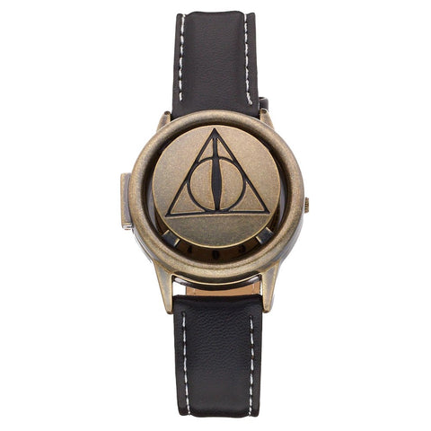 Harry Potter Deathly Hallows Symbol Spinner Flip-Up Lid Watch (HP5068)