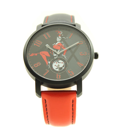 Harley Quinn The Clown Princess of Crime Joker Genuine Leather Watch Suicide Squad Margot Robbie DC Comics (HRQ5016)