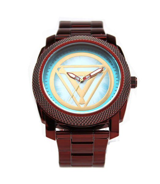 Iron Man Stainless Steel Men's Arc Reactor Watch (IRM8001) - SuperheroWatches.com