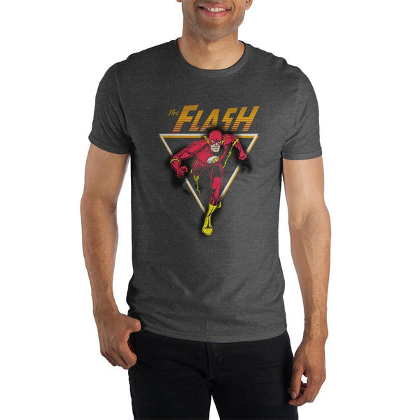 The Flash Men's Black T-Shirt Tee Shirt - SuperheroWatches.com