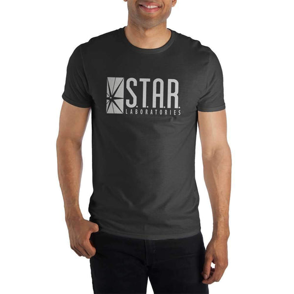 STAR Labs Laboratories Men's Black T-Shirt Tee Shirt - SuperheroWatches.com