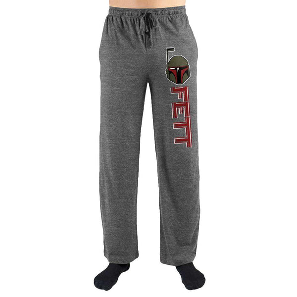 Star Wars Boba Fett Mask Print Men's Loungewear Lounge Pants - SuperheroWatches.com