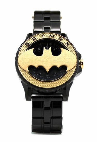Batman 75th Year Limited Edition Rotator Mens Gold-toned Logo Watch (Bat5113) - SuperheroWatches.com