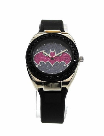 Batman Batgirl Pink Emblem Strap Watch (BGL9009) - SuperheroWatches.com