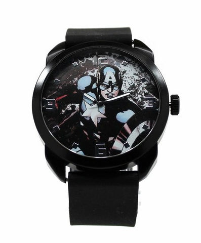 Captain America - The Winter Soldier - Black Silicon Watch (CTA1106) - SuperheroWatches.com