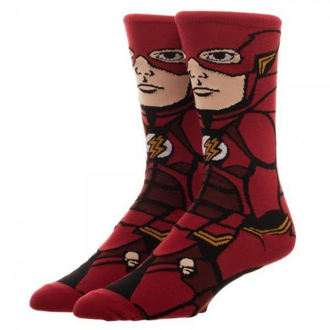 Justice League Flash 360 Character Crew Socks - SuperheroWatches.com