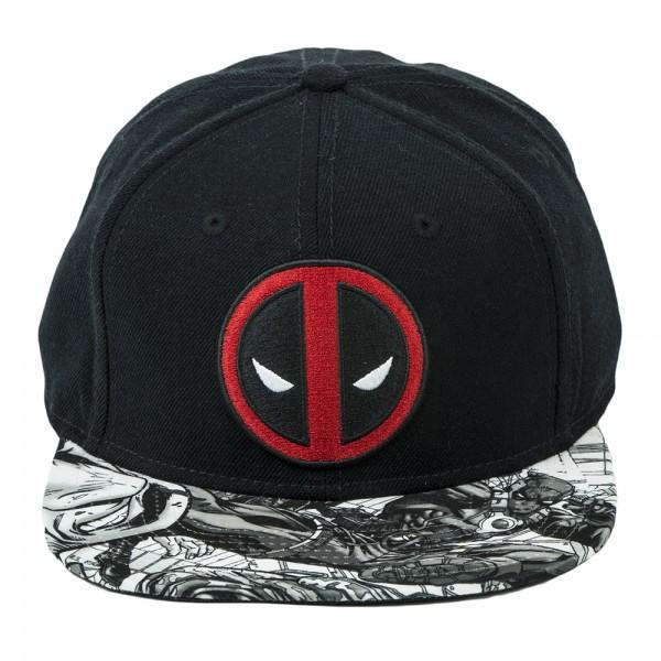 Marvel Deadpool Logo Sublimated Bill Snapback - SuperheroWatches.com