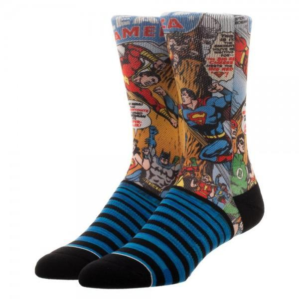 Justice League Sublimated  Crew Socks - SuperheroWatches.com