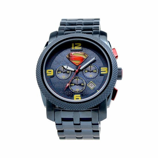 "Man of Steel ""Blue"" Limited Edition Collection Chronograph Watch (MOS8023) - SuperheroWatches.com"