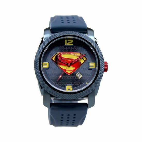 "Man of Steel ""Blue"" Limited Edition Collection Watch Silicon Band (MOS9034) - SuperheroWatches.com"