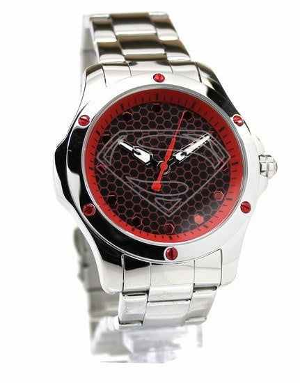 Man of Steel Superman Hope Red Stainless Steel Limited Edition Watch (MOS 8014) - SuperheroWatches.com