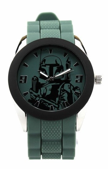 Boba Fett Watch with Green Silicon Strap Star Wars (BOB1201) - SuperheroWatches.com