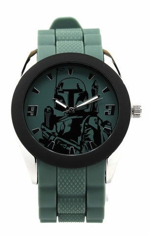 Star Wars Boba Fett Watch with Green Silicon Strap (BOB1201)