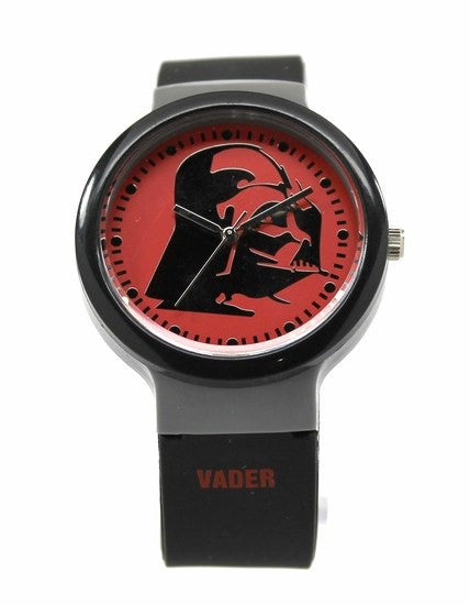 Darth Vader Black Rubber Silicon Strap Star Wars Watch (DAR3504) - SuperheroWatches.com