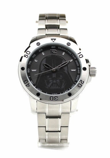 Darth Vader Stainless Steel Mens Star Wars Watch with Silver Two-toned Bracelet (DAR2009) - SuperheroWatches.com