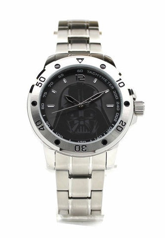 Star Wars Darth Vader Stainless Steel Mens Watch with Silver Two-toned Bracelet (DAR2009)