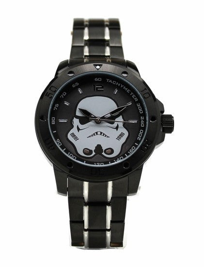 Star Wars StormTrooper Stainless Steel Mens Watch with Black Two-toned Bracelet (STM2106)