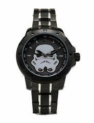 Stormtrooper Stainless Steel Mens Star Wars Watch with Black Two-toned Bracelet