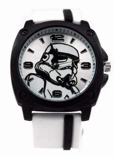 Star Wars Stormtrooper Watch with White Rubber Strap (STM1104)