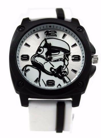 Stormtrooper Star Wars Watch with White Rubber Strap (STM1104) - SuperheroWatches.com
