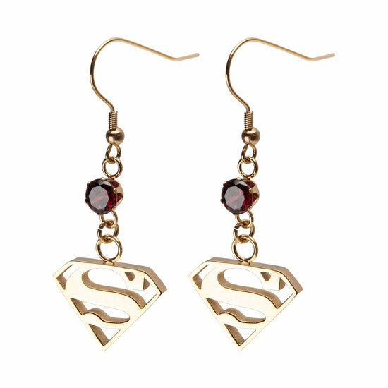 Superman Dangle Earrings (SUPMERSS01) - SuperheroWatches.com