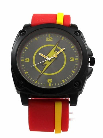 The Flash Red and Yellow Stripe Watch (FLH9019) - SuperheroWatches.com