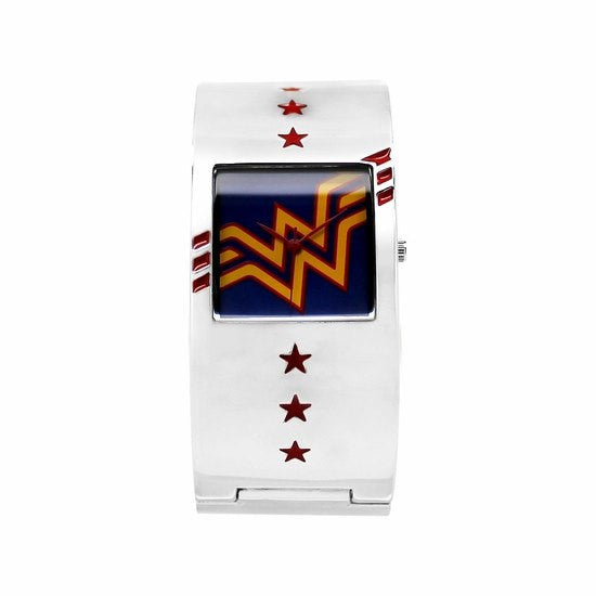 Wonder Woman Bangle Cuff Bracelet Watch (WOW8046)