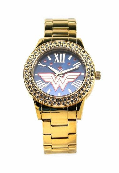 "Wonder Woman ""Justice"" Gold-tone Watch (WOW8063) - SuperheroWatches.com"