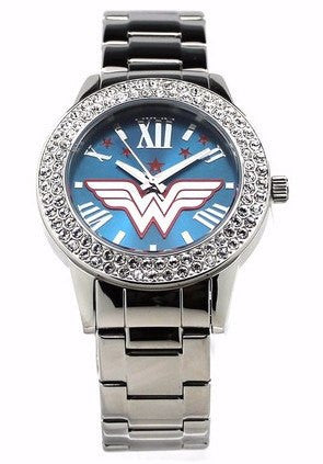 "Wonder Woman ""Justice"" Silver-tone Watch (WOW8062) - SuperheroWatches.com"