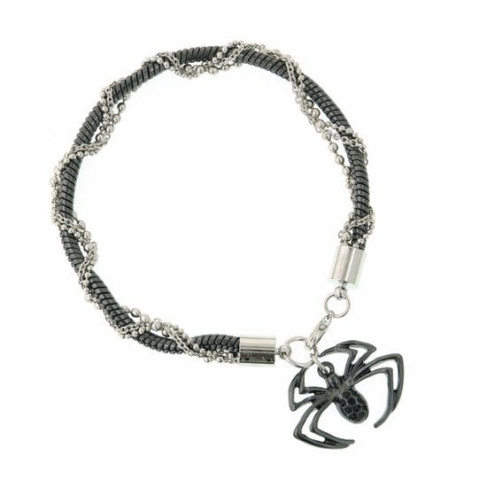 Spiderman Hematite Chain Spider Bracelet - SuperheroWatches.com