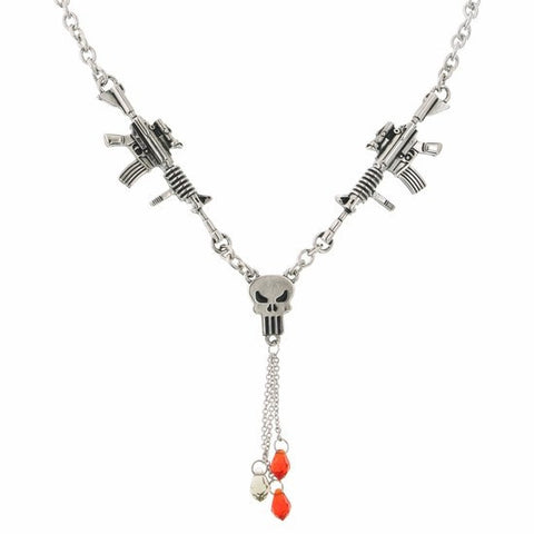 Punisher Rifle Drop Y Necklace - SuperheroWatches.com