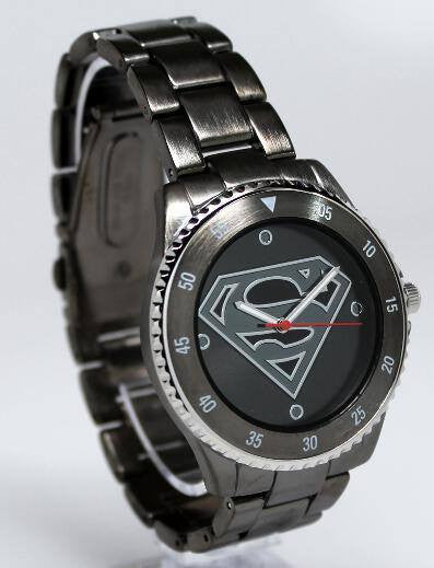 Superman Watch (Gun Metal Stainless Steel SUP8005) - SuperheroWatches.com