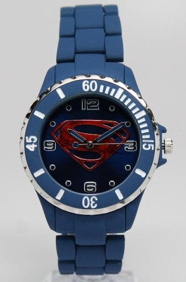 Superman Man of Steel Watch Blue (MOS8005) - SuperheroWatches.com